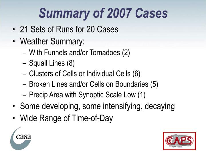 Summary of 2007 Cases