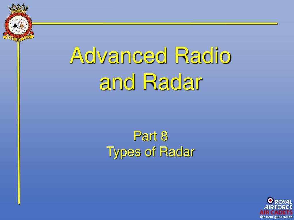 PPT - Advanced Radio and Radar PowerPoint Presentation - ID:1700263