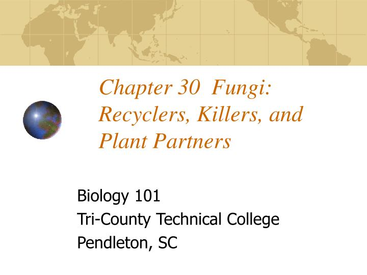 chapter 30 fungi recyclers killers and plant partners