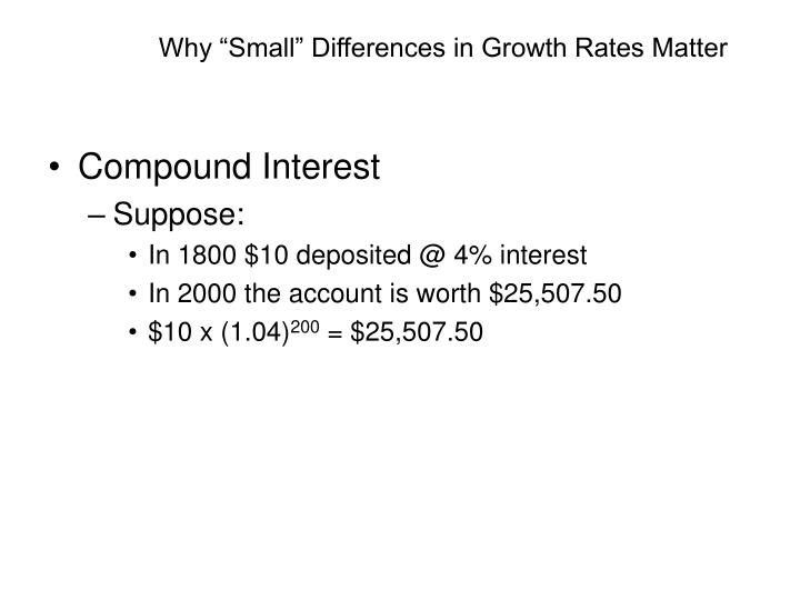 """Why """"Small"""" Differences in Growth Rates Matter"""