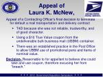 appeal of laura k mcnew