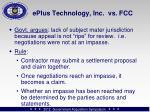 eplus technology inc vs fcc
