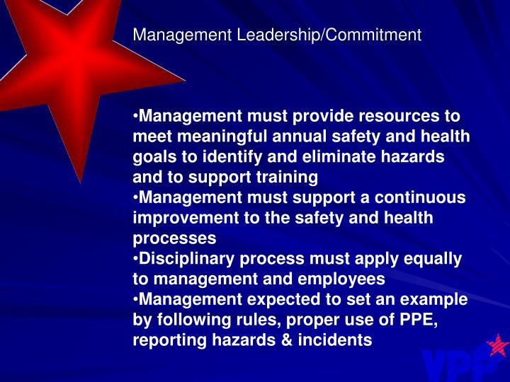 Management Leadership/Commitment