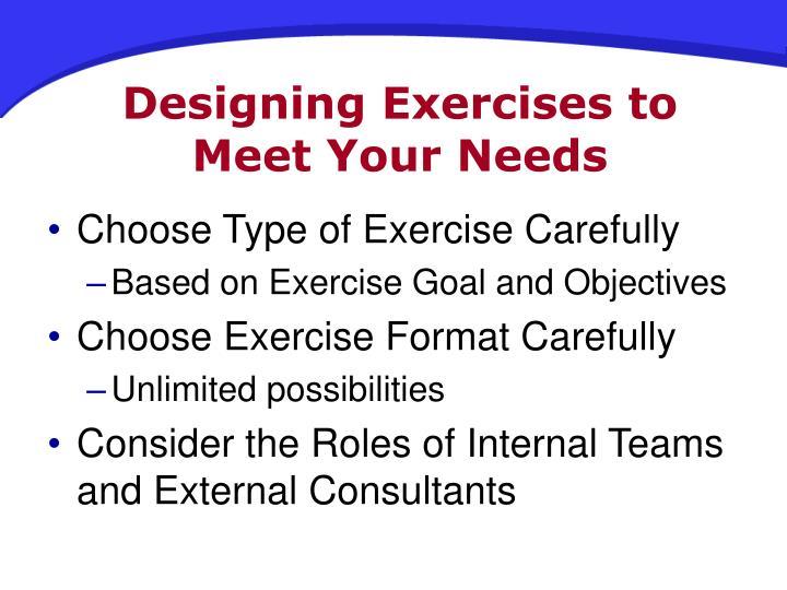 Designing Exercises to