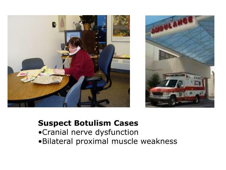 Suspect Botulism Cases