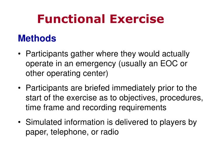 Functional Exercise