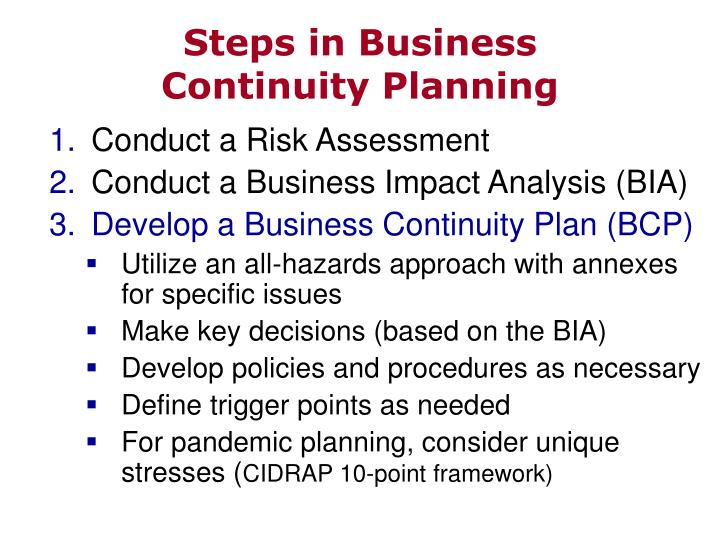 Steps in Business