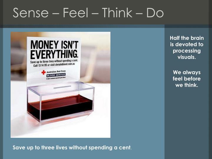 Sense – Feel – Think – Do