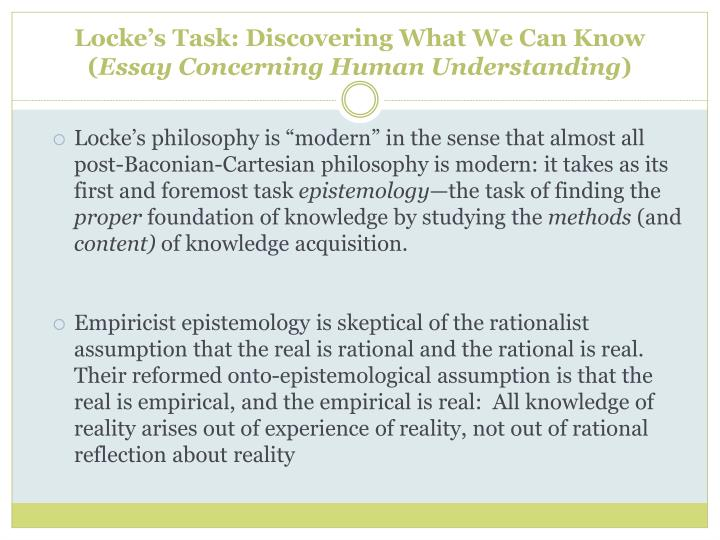 locke essay concerning human understanding online An essay concerning human understanding book ii: ideas john locke  essay ii john locke  when i have shown where the understanding can get all its.