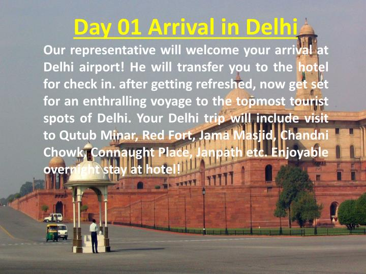 Day 01 Arrival in Delhi