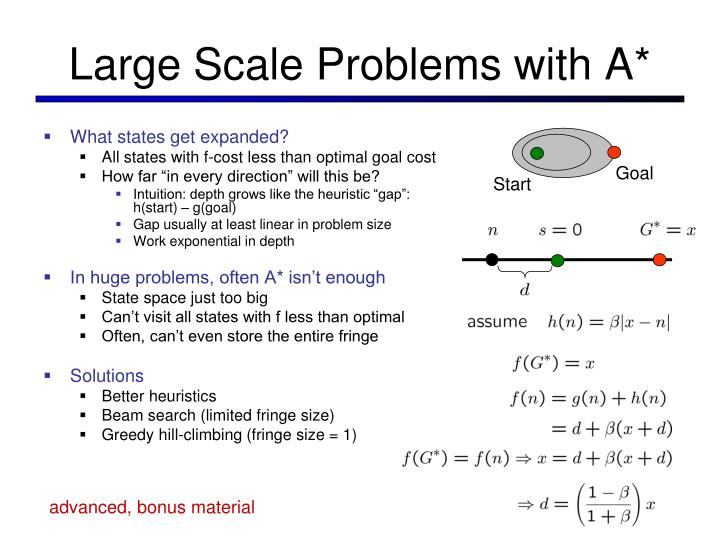 Large Scale Problems with A*