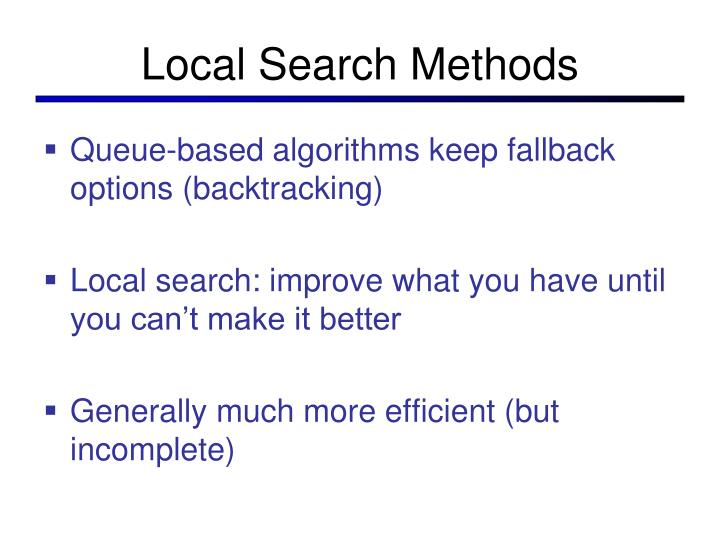 Local Search Methods