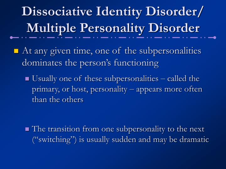 hypothesis on dissociative identity disorder