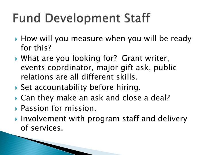 Fund Development Staff