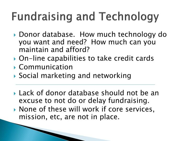 Fundraising and Technology