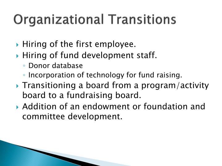 Organizational Transitions