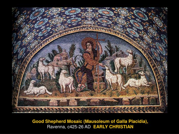 Good Shepherd Mosaic (Mausoleum of Galla Placidia),