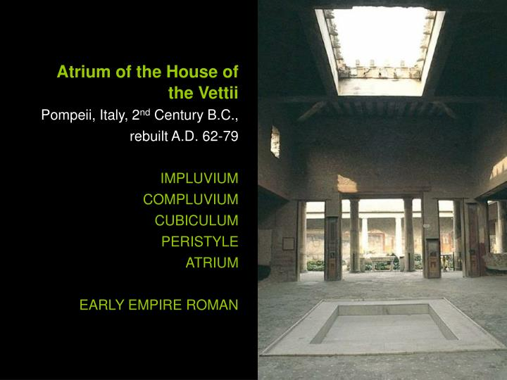Atrium of the House of the Vettii