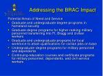 addressing the brac impact1