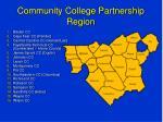 community college partnership region