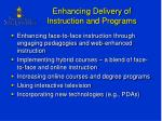 enhancing delivery of instruction and programs