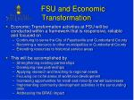 fsu and economic transformation