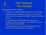 fsu tomorrow the institutes1