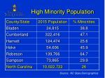 high minority population