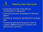 meeting new demands
