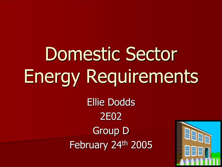 domestic sector energy requirements