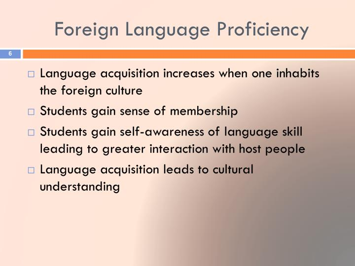 Foreign Language Proficiency
