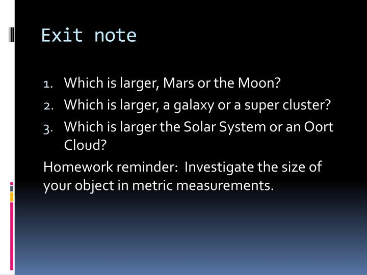 Exit note