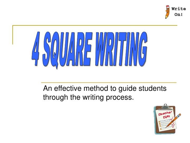 An effective method to guide students through the writing process