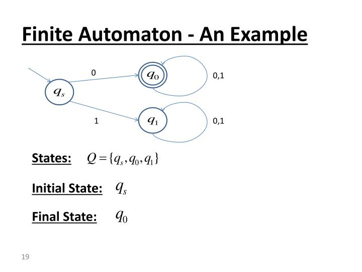Finite Automaton - An Example