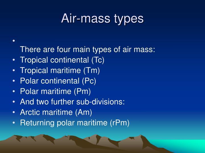Air-mass types