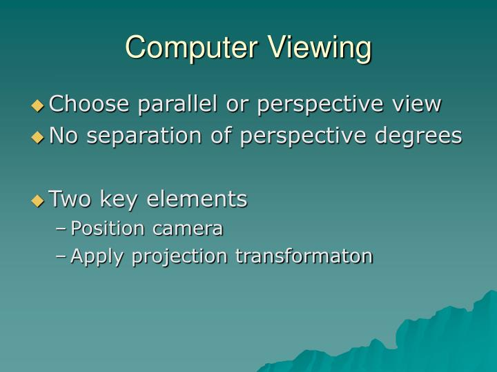 Computer Viewing