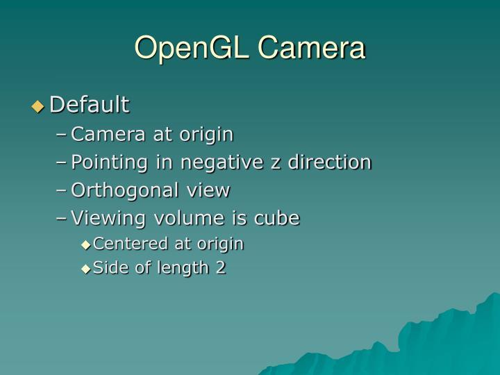 OpenGL Camera