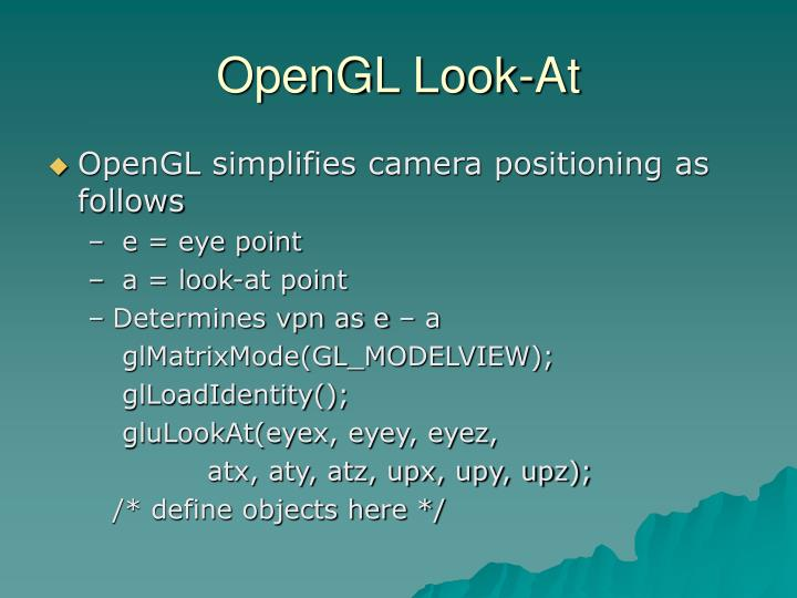 OpenGL Look-At