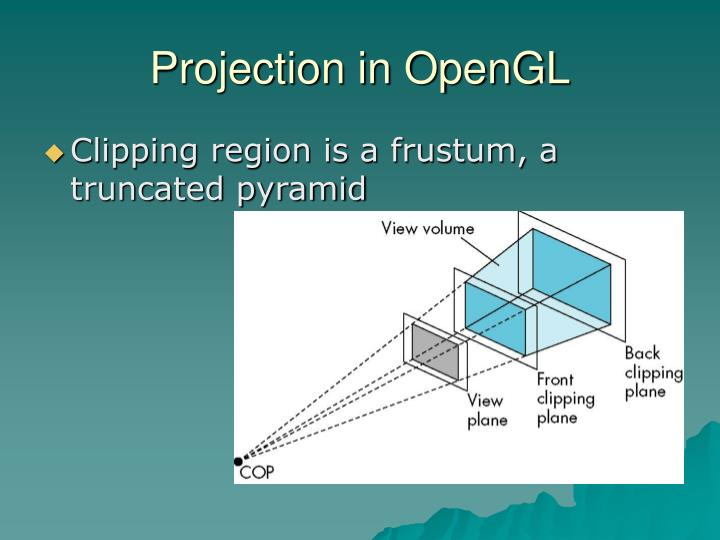 Projection in OpenGL