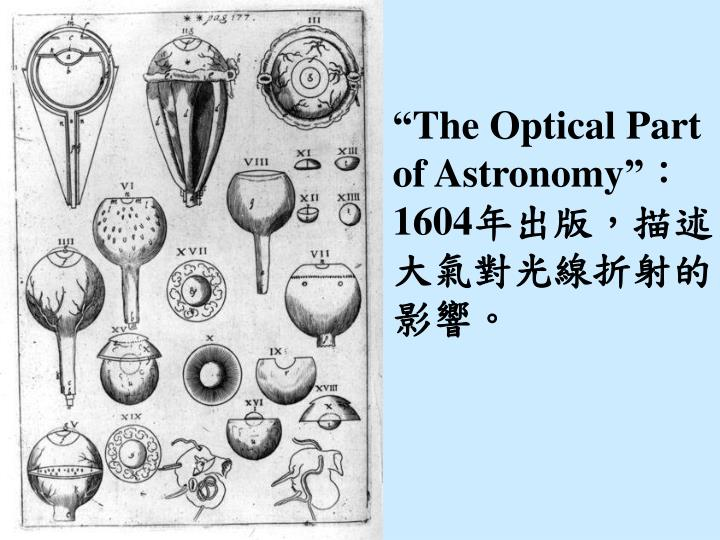"""""""The Optical Part of Astronomy"""""""