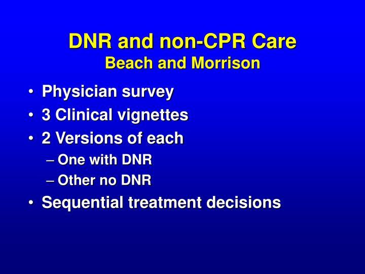 DNR and non-CPR Care