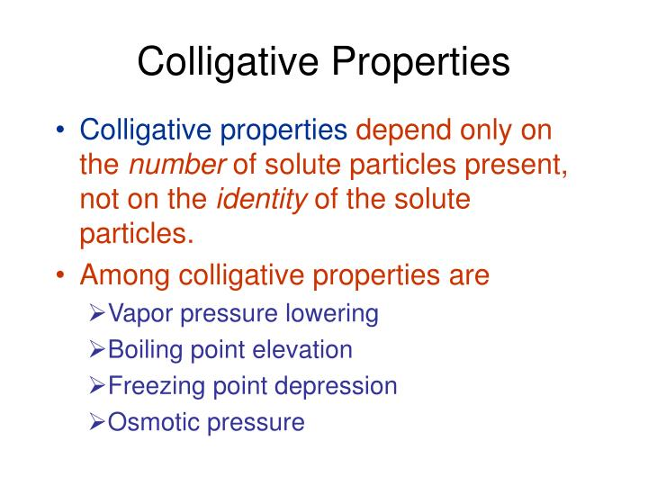Ppt Colligative Properties Powerpoint Presentation Id1701301