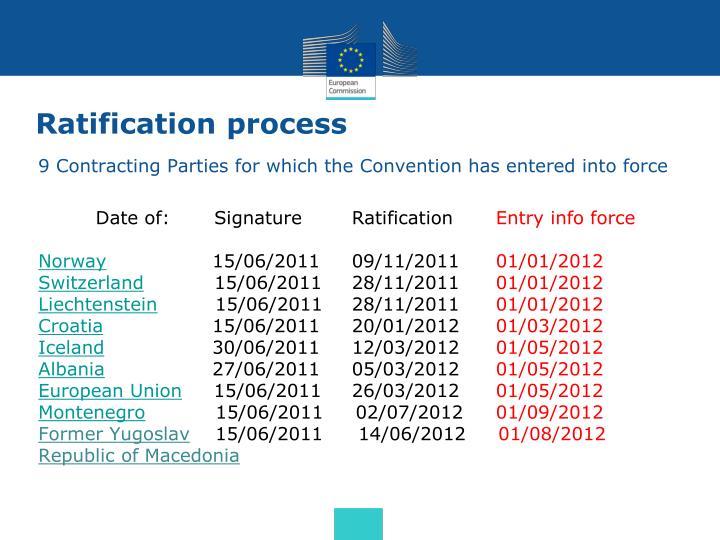 Ratification process