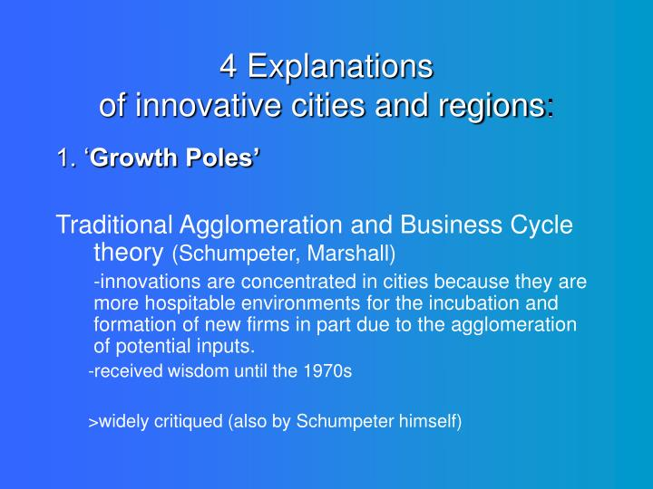 4 explanations of innovative cities and regions