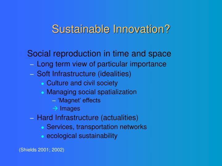 Sustainable Innovation?