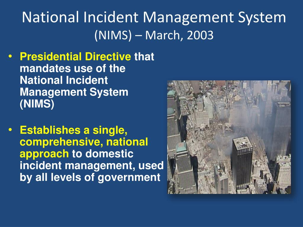 Ppt National Incident Management System Incident Command System Overview For Senior Officials Powerpoint Presentation Id 1701447