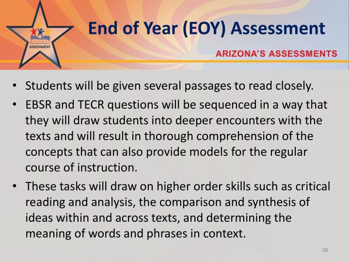 End of Year (EOY) Assessment
