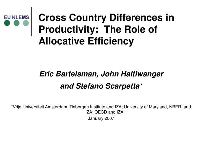 Eric Bartelsman, John Haltiwanger