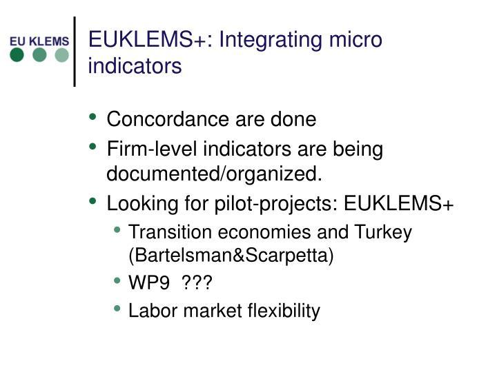 EUKLEMS+: Integrating micro indicators
