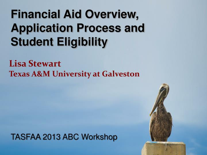 Financial Aid Overview,